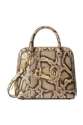 Horsebit 1955 Python Small Top Handle Bag