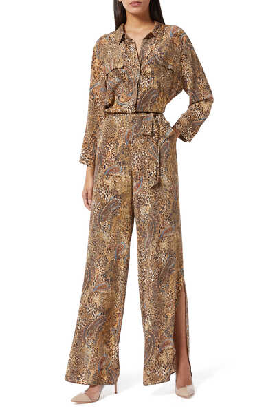 Teddy Leopard and Paisley Print Jumpsuit