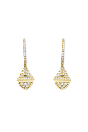 Cleo Rev Mini Full Diamond Drop Earrings