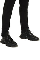 Timael Leather And Ripstop Sneakers