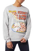 Pizza Print Sweatshirt