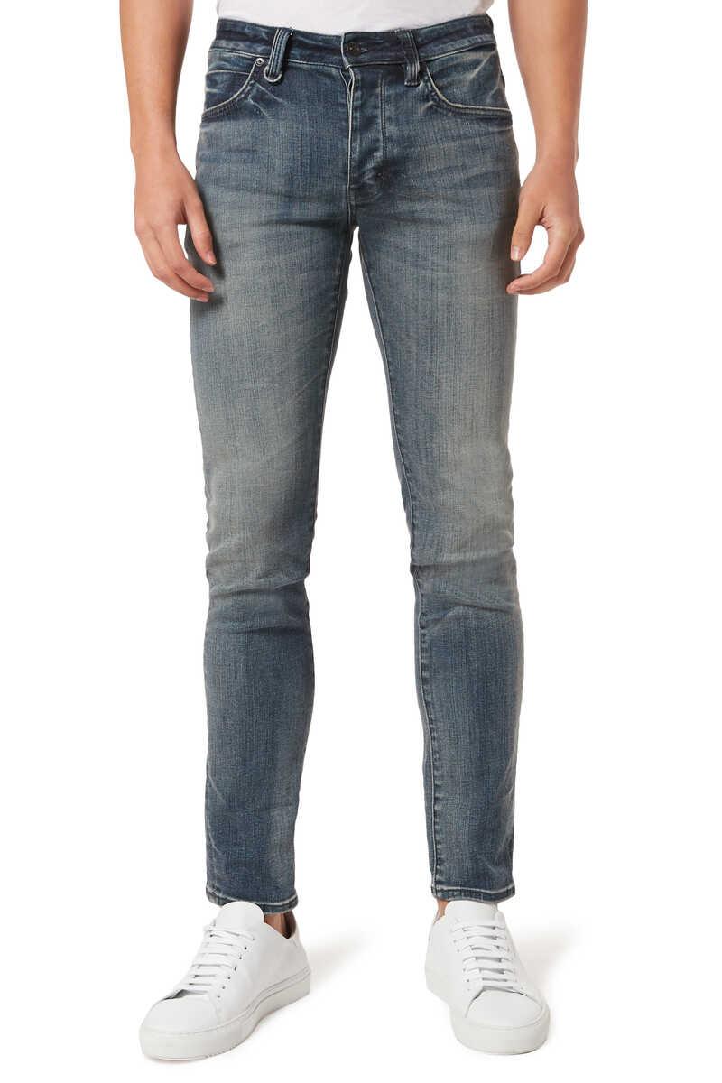 Jean Lou Slim Biker Jeans image number 1