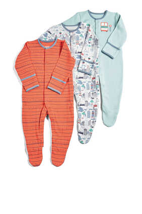 Town Sleepsuit, Set of Three