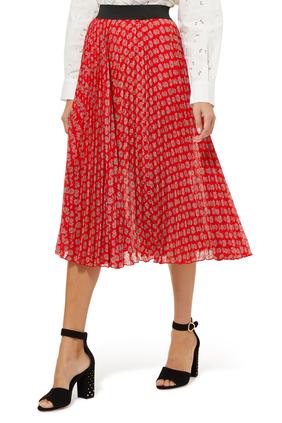 Jungmono Printed A-Line Skirt