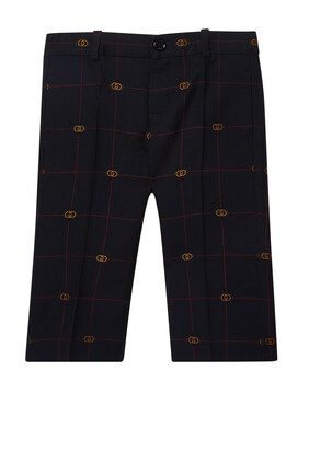 GG Windowpane Pants
