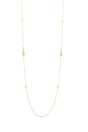 Cleo Luxe Long Chain Full Diamond Necklace