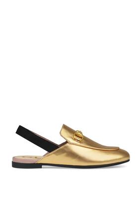 Princetown Metallic Leather Slip-Ons