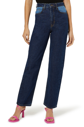 Betty Contrasting Pocket Jeans