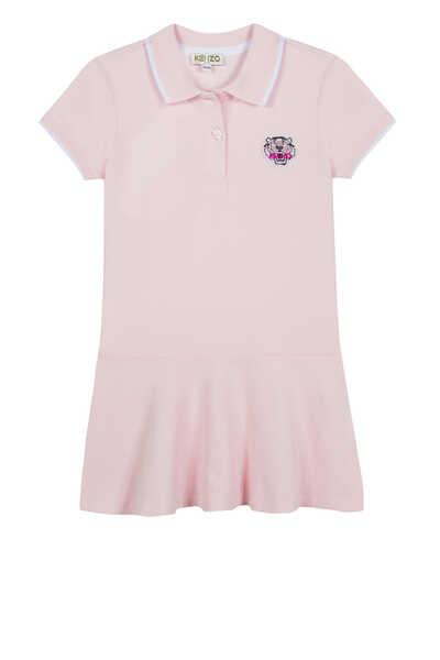 Tiger Piqué Polo Dress