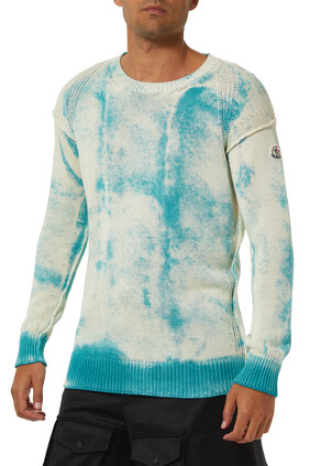 Tie-Dye Ribbed Knit Sweater