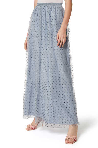 Dotted Glitter Maxi Skirt