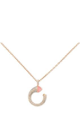 Cleo Venus Pink Opal & Diamond Necklace in 18kt Rose Gold
