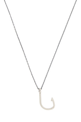 Hooked Silver Necklace
