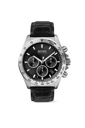 Leather Chronograph Wrist Watch