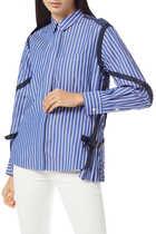 Strap-Embellished Cotton Poplin Shirt