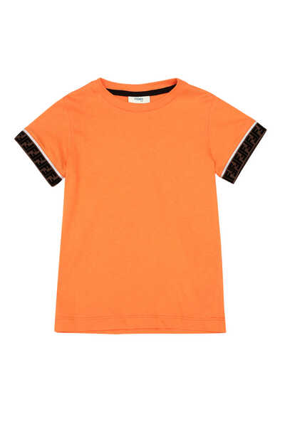 Logo-Trim Cotton T-Shirt