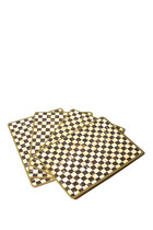 Courtly Check Cork Back Placemats, Set of 4