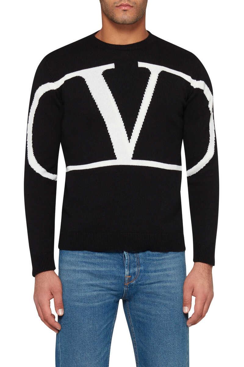 Valentino Logo Cashmere Sweater image number 5