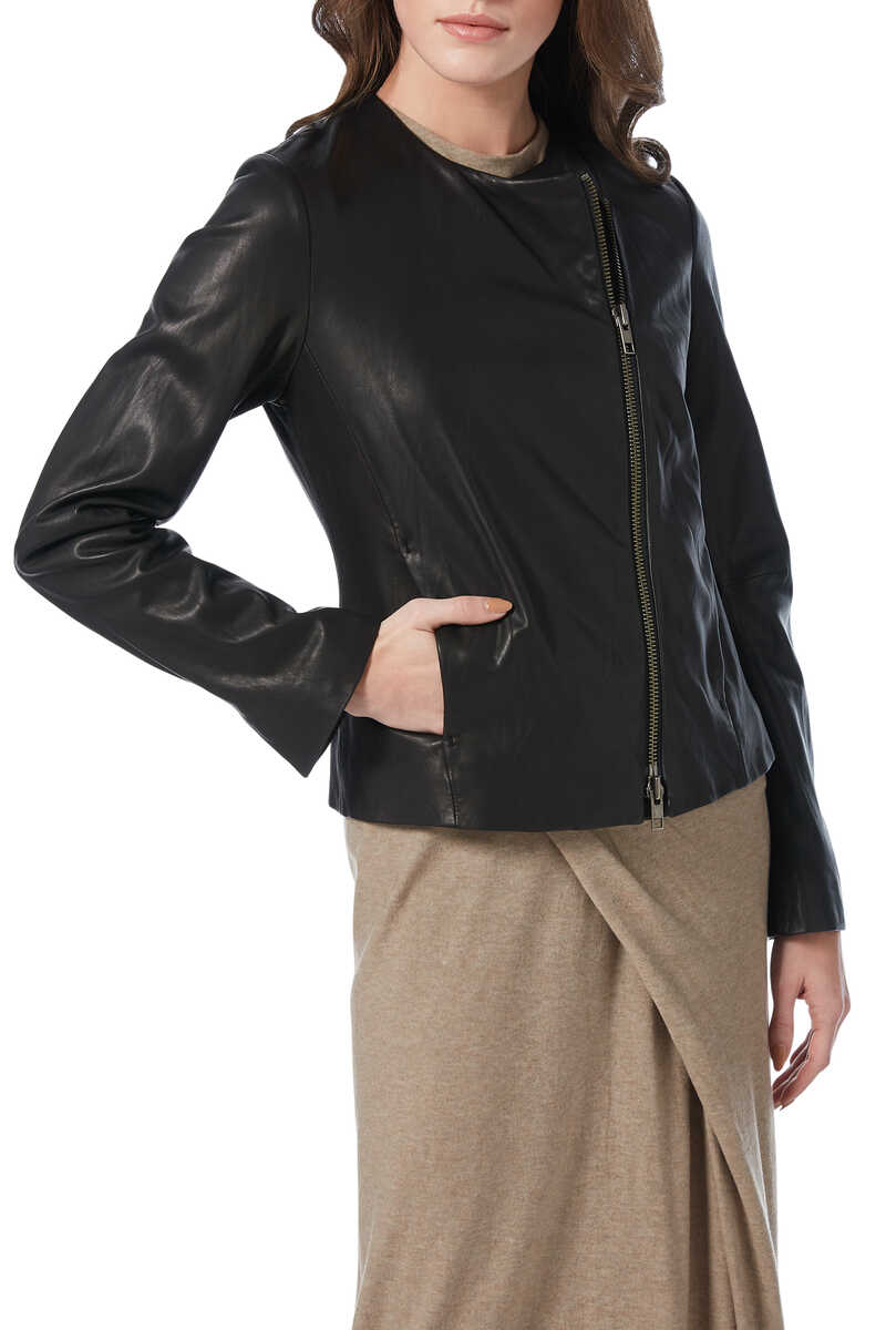 Leather Cross Fit Jacket image number 1