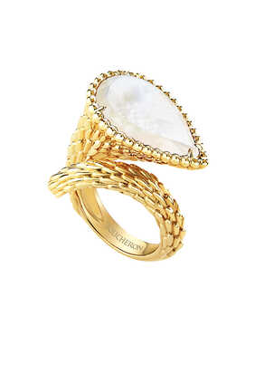 Serpent Bohème Mother Of Pearl Large Ring