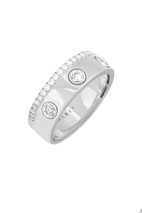 Diamond Band Ring in 18kt White Gold