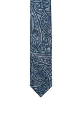 Petrol Paisley Tie