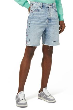 Denim Painter Bermuda Shorts