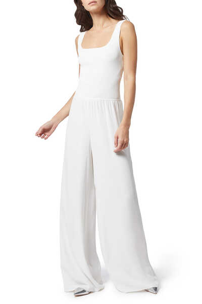 Ribbed Square Neck Jumpsuit