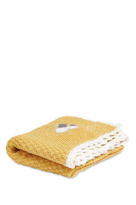 Bee Happy Knitted Blanket