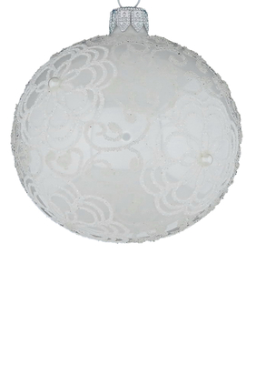 Glass Frozen Ball Ornament