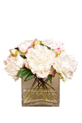 Large Peony Arrangement in a Glass