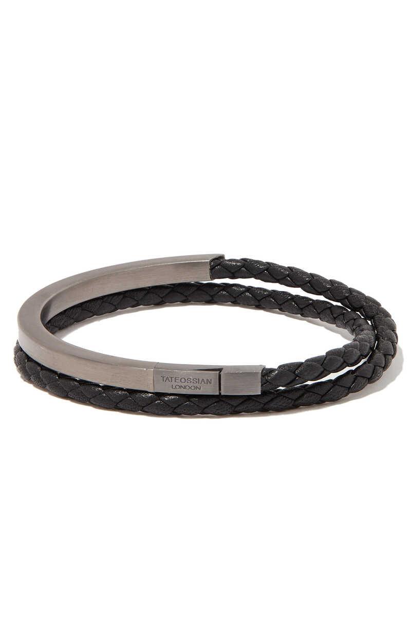 Mezzo Noir Silver Bracelet image number 1