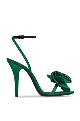Ivy Satin Flower Sandals