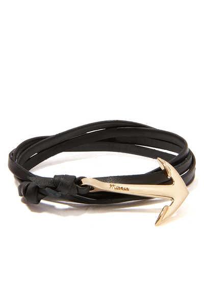 Leather Anchor Bracelet