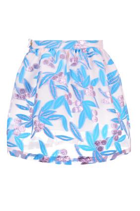 Gathered Midi Skirt