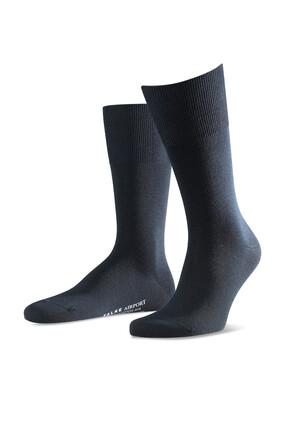 Navy Silk Socks