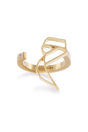 Arabic Letter Meem Ring