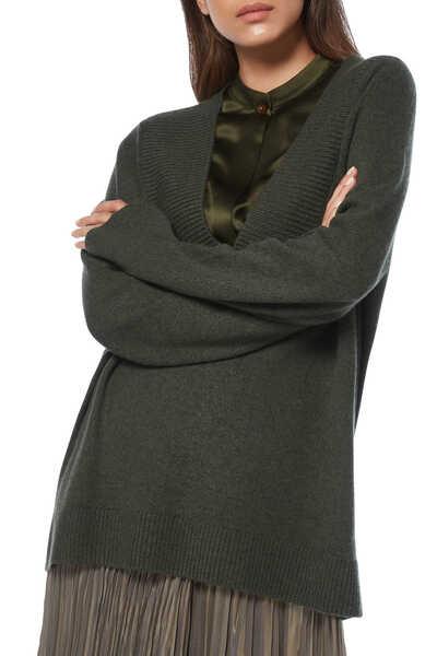 Ribbed Shawl Collar Tunic