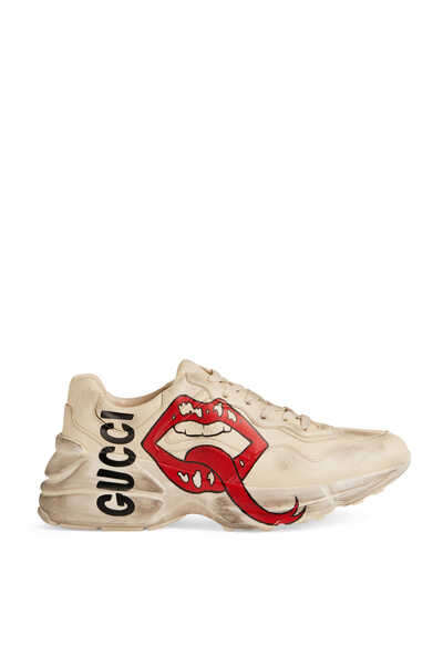 Rhyton Sneaker With Mouth Print