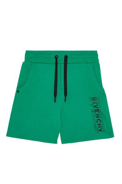 Side Logo Jersey Bermuda Shorts