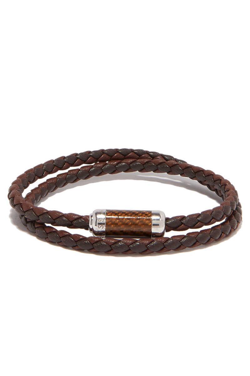 Montecarlo Carbon Leather Bracelet image number 1