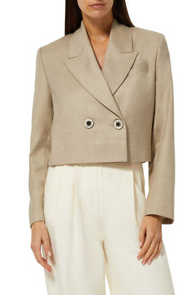 Leonida Double Breasted Cropped Blazer