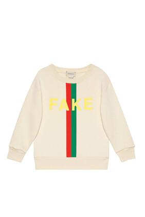 'Fake/Not' Print Sweatshirt