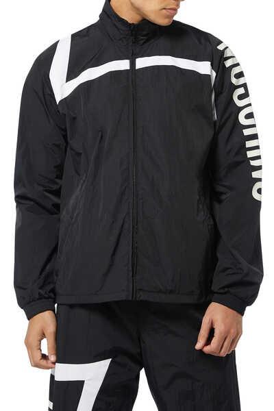 Nylon Logo Zip Jacket