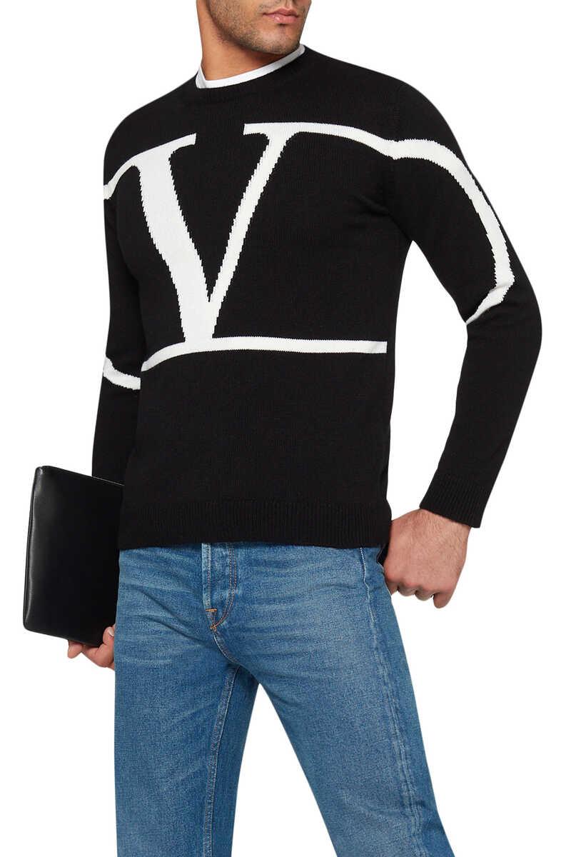 Valentino Logo Cashmere Sweater image number 1