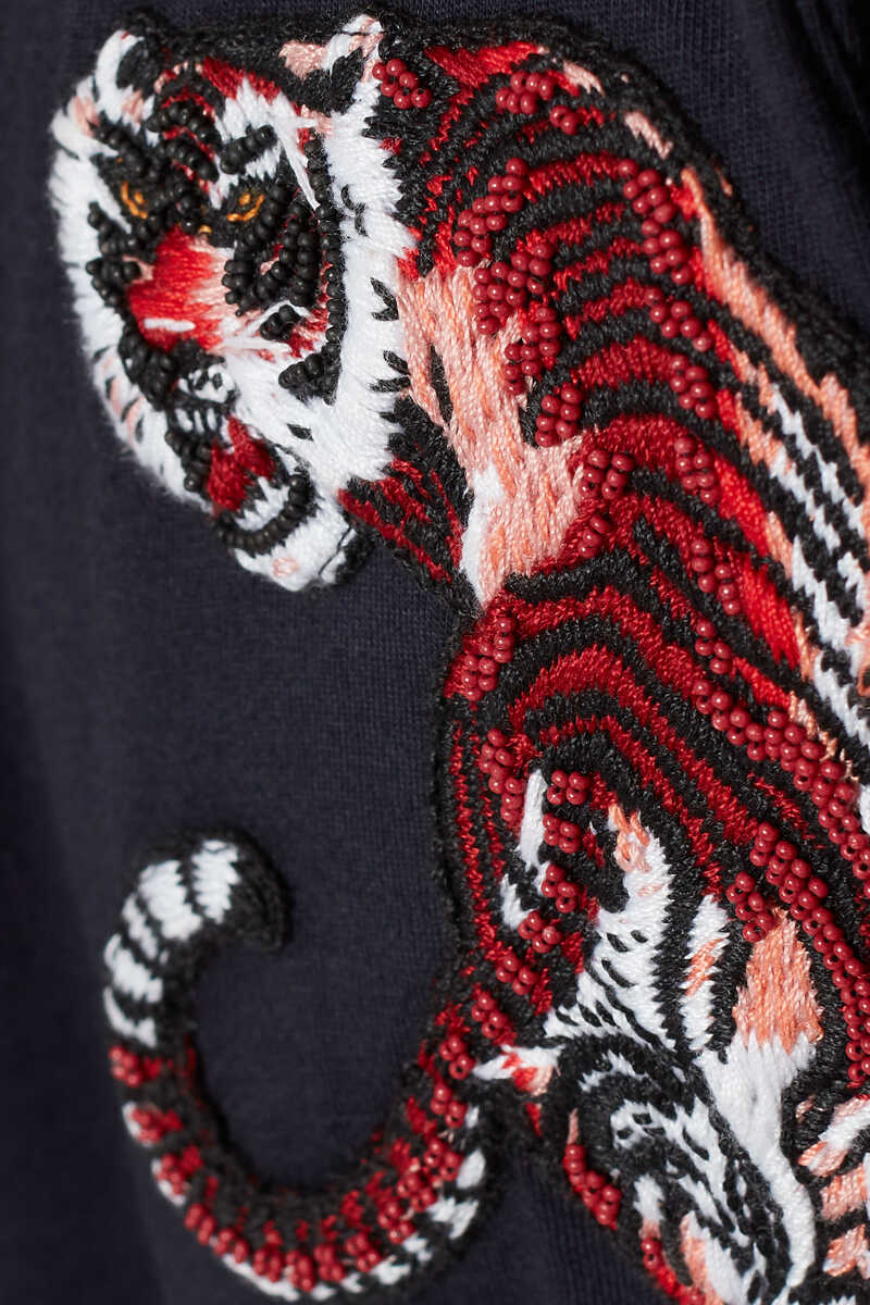 Tiger Embroidered T-Shirt image number 4