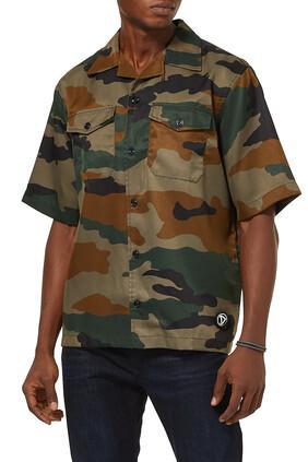 Military Button Down Shirt