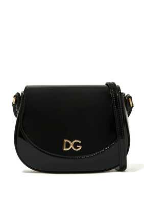 Patent Leather Logo Bag