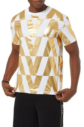 Macro Optical Valentino Print T-shirt