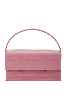 Ida Croc-Embossed Leather Bag